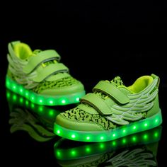 Kids Yeezy Light Up Trainers With Wings