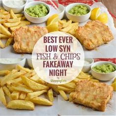 Slimming Slimming Eats Best Ever Low Syn Fish and Chip Fakeaway Night - gluten free, dairy free, Slimming World and Weight Watchers friendly - Slimming World Fakeaway, Slimming World Dinners, Slimming World Recipes Syn Free, Slimming World Diet, Slimming Eats, Healthy Eating Recipes, Cooking Recipes, Healthy Food, Delicious Recipes