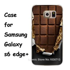 cover chocolate Pattern hard transparent clear Cover Case for samsung galaxy s3 s4 s5 mini s6 s7 edge