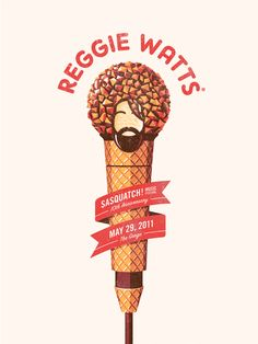 Reggie Watts Poster by dkngstudios.com