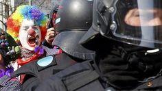 Fuertes disturbios y 350 detenidos en la apertura de una sede del BCE en Fránkfurt