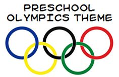 Olympics theme ideas and printables for preschool