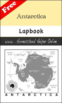 Homeschool Helper Online's Antarctica Lapbook