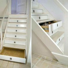 Stair Storage Idea