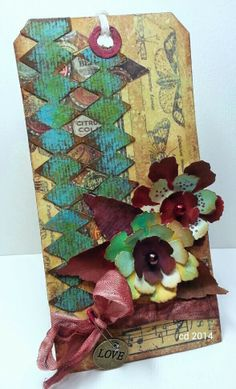 Sketching Stamper: Tim Holtz 12 tags of 2014 - May
