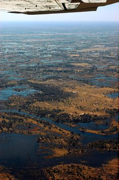 aerial view, Moremi Reserve, Okavango Delta, Botswana.  Photo: youngrobv, via Flickr