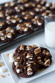 Always HUNGRY — foodiebliss: Triple Chocolate S'mores Cookies...