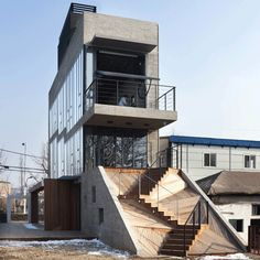 are you kidding me with these stairs?! Sinjinmal Building by Studio_GAON
