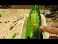 Esse vídeo explica bem como cortar garrafas (fazer aberturas) com broca