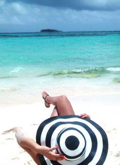 #beach #hat #relax #sea