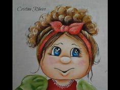 """Como pintar o projeto """"Boneca Cacheada"""" - Pintura em tecido - YouTube"""