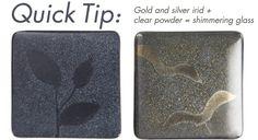 Quick Tip for Irid Glass from Bullseye Glass · Glass Art | CraftGossip.com