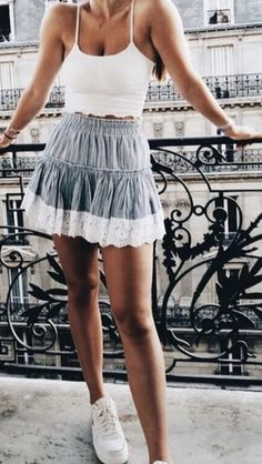Spring Fashion Outfits, Summer Outfits, Fashion Lookbook, Lace Skirt, Trends, Skirts, Super Cute, Dream Closets, Fashion