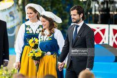 Prince Carl Phillip and Princess Sofia of Sweden participate in a ceremony celebrating Sweden's national day at Skansen on June 6, 2015 in Stockholm, Sweden.