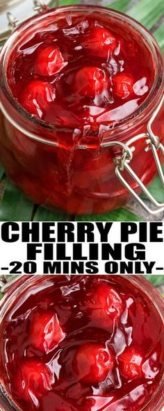 Learn how to make quick and easy CHERRY PIE FILLING recipe; and, sauce for CHRISTMAS HAM!