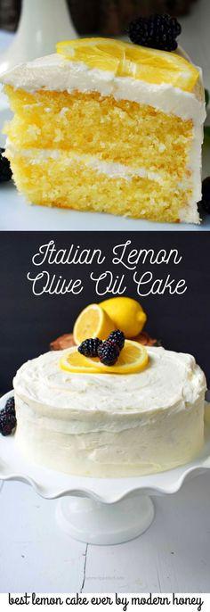 Terrific Italian Lemon Olive Oil Cake with Lemon Vanilla Cream Cheese Frosting is the best lemon cake recipe. Moist and tender lemon cake every single time. The post Italian Lemon Olive Oil Ca ..