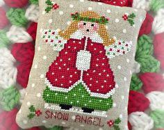 Lil' Miss patron joyeux Noël ornement PDF par SugarStitchesDesign