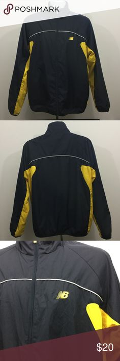 NEW. BALANCE MENS TRACK JACKET LARGE Like new condition zero flaws 10/10 for quality navy blue and yellow  colorway New Balance Jackets & Coats Lightweight & Shirt Jackets