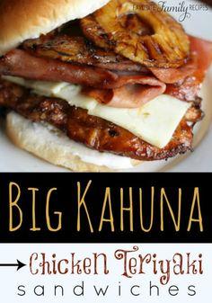 Big Kahuna Chicken Teriyaki Sandwiches | KITCHEN MOM'S