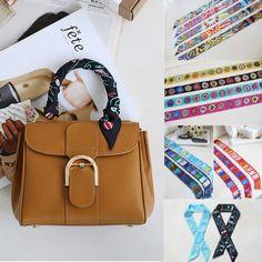NEW-PA52-Lady-Celebrity-Silk-Tie-Slim-Scarf-Handbag-Scarves-Bag-Accessory-Charm