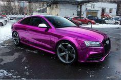 Audi RS5 Chrome Purple Wrap...looks like an 80s matchbox car