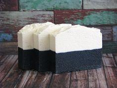 Sea Salt and Charcoal Soap, Detox Soap, Exfoliating Salt Bar, Luxury Clay Soap, Vegan Soap, Palm Free, Salt Soap, Activated Charcoal Soap by ArtisanBathandBody on Etsy