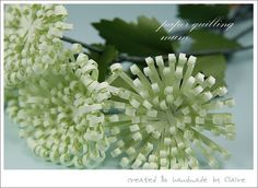 Claire's paper craft: paper quilling -- quilling chrysanthemums tutorial
