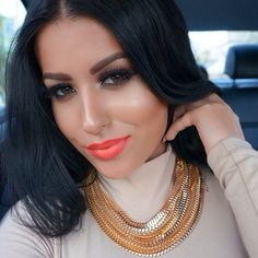 """#ShareIG Selfie from the other day  @Siobhan Domagala Raine Cosmetics """"Candy Girl"""" on the lips  necklace from @Bria Lena Lena Styles ✨"""