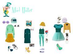 """""""Disney Bound: Mad Hatter from Alice in Wonderland"""" by the-shadowrider on Polyvore featuring Disney Couture, Disney, Burton, N°21, MANGO, WearAll, Lowie, Christian Louboutin, IRO and JustFab"""