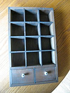 Vintage wood display cupboard for sale at More Than McCoy on TIAS
