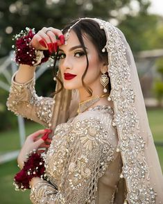 Asian Bridal Dresses, Indian Bridal Outfits, Pakistani Wedding Outfits, Pakistani Dresses, Wedding Dresses, Pakistani Bridal Makeup, Indian Bridal Lehenga, Pakistan Bride, Bridal Lehenga Collection