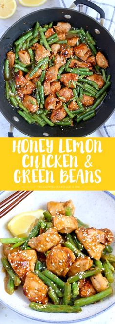 This Honey Lemon Chicken and Green Beans is a light and fresh meal with a ton of. - This Honey Lemon Chicken and Green Beans is a light and fresh meal with a ton of flavor. Dinner is - Easy Healthy Recipes, Healthy Cooking, Easy Meals, Healthy Eating, Healthy Meals, Breakfast Healthy, Healthy Chicken, Dinner Healthy, Breakfast Ideas