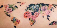 20 amazing travel-inspired tattoos you'll want Food Tattoos, Body Art Tattoos, Sleeve Tattoos, Gun Tattoos, Ankle Tattoos, Arrow Tattoos, Tatoos, London Skyline Tattoo, World Globe Tattoos