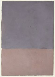 Untitled (Gray and Mauve), 1969 by Mark Rothko. Color Field Painting. abstract