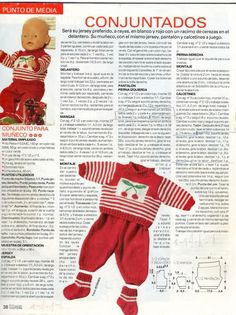 Ropita de muñeco. Baby Born, Baby Knitting, Dress Making, Ronald Mcdonald, Doll Clothes, Knit Crochet, Barbie, Holiday Decor, Pattern