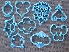 Kitchen, Dining & Bar Vtg Wilton Cake Decorating Press Cutters Set Of 9 408-91 1972 Home & Garden