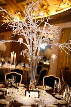 Cheap wedding lighting. Use old milk cans, branches, and white ...