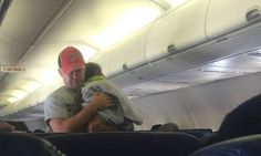 Passenger hailed for comforting stranger's baby on flight