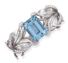 1940 Aquamarine Bracelet