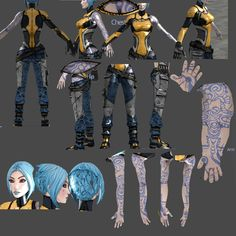 Super Duper BL2 Maya reference.  Great unfold of the the tattoos!