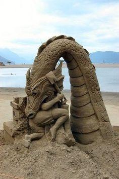 Sand sculpture.