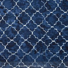 Tonga Batiks - Indigo Dreams Moroccan Tile Deep Yardage Navy Blue, Blue And White, Cushion Fabric, Backsplash, Indigo, Carpet, Bathroom, Rugs, Wallpaper