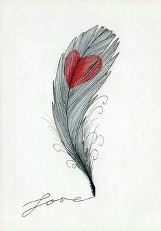 Wahre Liebe findest Du nur, wenn du Mut zur Katastrophe hast… Many people fail because of love, because the fear of being open to others is greater than the longing for closeness & trust and the bad experiences are stronger than the best … Feather Art, Feather Tattoos, Forearm Tattoos, Feather Quotes, Feather Drawing, Trendy Tattoos, Cool Tattoos, Tatoos, Pencil Drawings