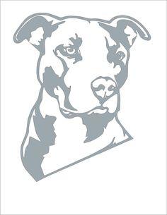 Pit Bull Pumpkin Stencil !!