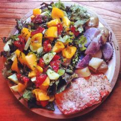 wild rose cleanse sockeye salmon and salad