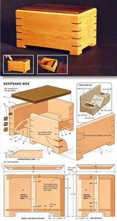 Keepsake Box Plans - Woodworking Plans and Projects | WoodArchivist.com #woodworkingtips