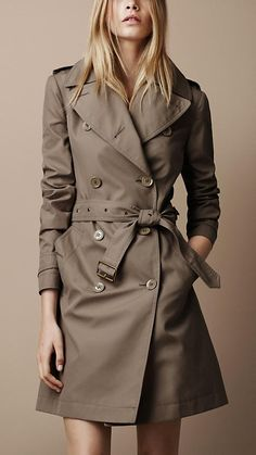 Burberry Cotton Poplin Trench Coat. Classic and probably worth every penny.