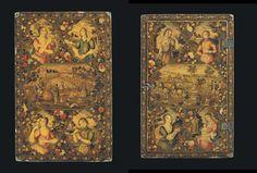 Islamic Persia: A Qajar Polychrome Lacquer Papier Mache Mirror Case