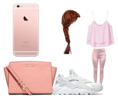 """""""pink gang"""" by pettyallthe on Polyvore featuring MANGO, NIKE and MICHAEL Michael Kors"""