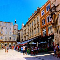 Narodni Trg (People's Square), Split, Croatia  __________________  This square lined with 12th century Venetian homes leads to the Iron gate of the 3rd century Diocletian's Palace.  The palace had four gates, one of each face of the rectangle - Golden, Ir